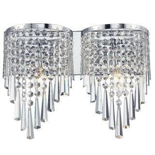 Z-Lite 2-light Crystal Vanity Light