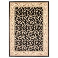 Veronica Black Area Rug (5'3 x 7'3)