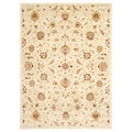 Traditional Sermakand Ivory Area Rug (5'3 x 7'7)