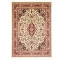 Medallion Ivory Area Rug (5'3 x 7'3)