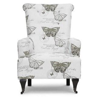 Baxton Studio 'Deering' Beige Linen Accent Chairs (Set of 2)