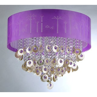 Violet Crystal Chandelier