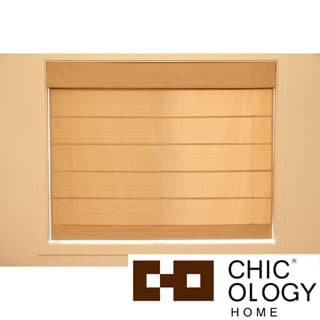 Chicology Mountain Almond Cordless Roman Shade