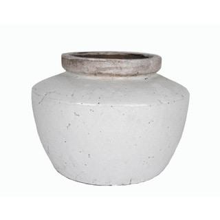 Medium Stoneware Decorative Pot