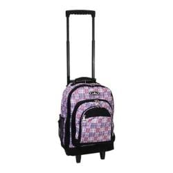 Everest Wheeled Pattern Backpack Purple/Black Plaid