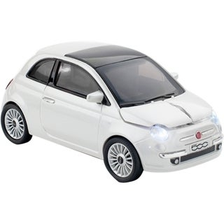 Click Car Fiat 500 Wireless Optical Mouse - White