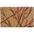 Hand Woven Winter Berries Coir Doormat