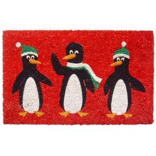 Penguins Non Slip Coir Doormat (17 x 28)