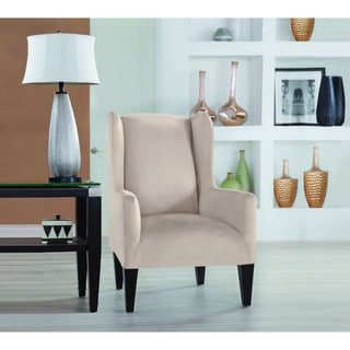 Restonic Stretch Fit Slipcover Wing Chair