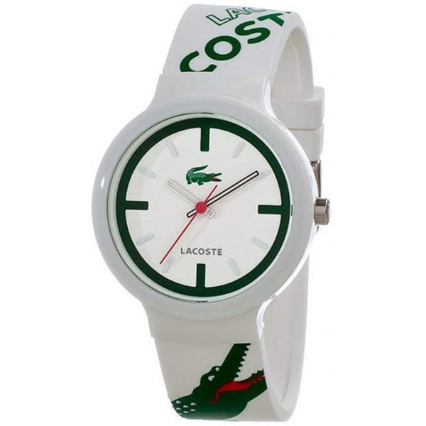 Lacoste Men's Goa 2010522 White Rubber Quartz Watch with White Dial