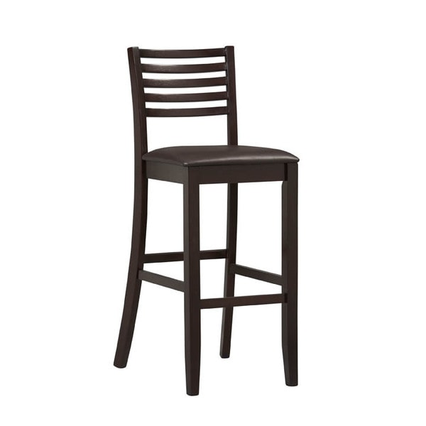 Oh! Home Piedmont Espresso Ladder Back Bar Stool