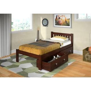 Donco Kids Mission Dark Cappuccino Twin-size Bed