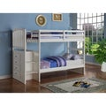 Donco Kids Arch Mission White Stairway Bunk Bed