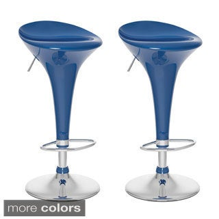 CorLiving Form Fitted Adjustable Bar Stool (Set of 2)