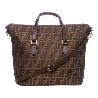 Fendi Tobacco Zucca Jacquard Top Handle Bag