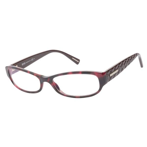 Hugo Boss 0419 WYK Havana Red Chocolate Prescription Eyeglasses