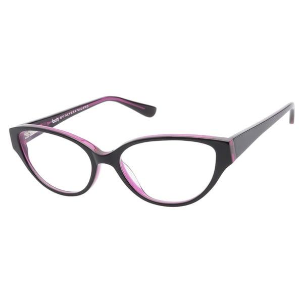 Touch by Alyssa Milano 102 Black Pink Prescription Eyeglasses