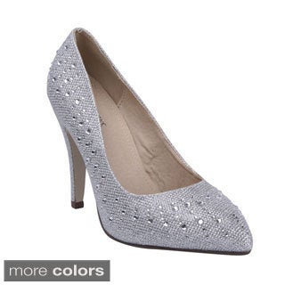 Bonnibel Women's 'Keesha-1' Almond Toe Glitter Pumps