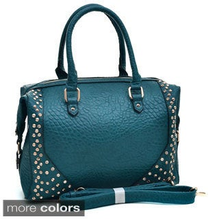 Isabelle Rhinestone Studded Carrying Satchel