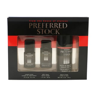 Coty Preferred Stock Men's 3-piece Gift Set with Large Shaving Cream
