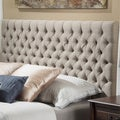 Christopher Knight Home Jezebel Queen/Full Button Tufted Fabric Headboard
