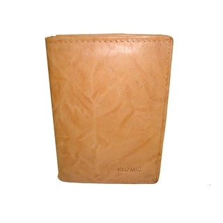 Kozmic Tan Leather Card/ ID Slim Wallet