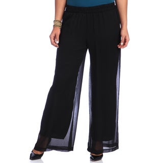 Hadari Women's Plus Size Classic Dress Pants