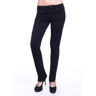 Stitch's Women's Slim Fit Black Denim Straight Jeans