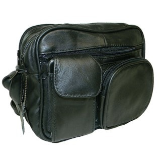 Hollywood Tag Black Leather Anti-Theft Side Bag