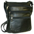 Hollywood Tag Lightweight Black Leather Anti-theft Side Bag