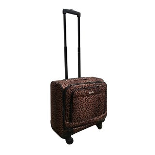Jourdan Leopard Under Seater 14-inch Carry-on Rolling Laptop Case