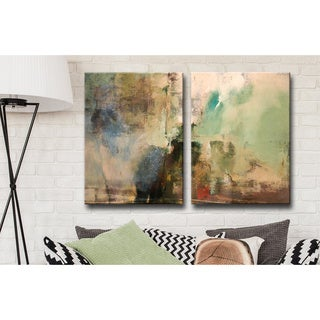 Alexis Bueno 'Smash XVIIII' Oversized Canvas 2-piece Wall Art Set