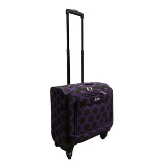 Jourdan Purple Dot Under Seater 14-inch Carry-on Spinner Laptop Case