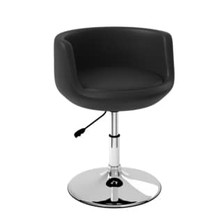 CorLiving Abrosia Black Leatherette Barrel Chair