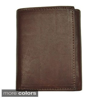 Men's Leather Tri-Fold Wallet - Brown or Tan