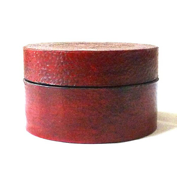 Handmade Red Leather Jewelry Box