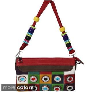 Jewel Checkered Clutch Bag