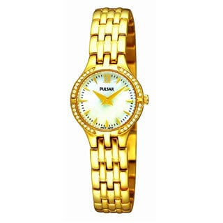 Pulsar Women's Gold-Tone Crystal Watch