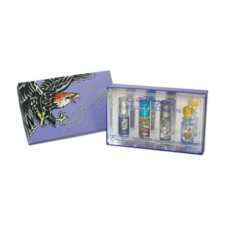 Ed Hardy Deluxe Collection Men's 4-piece Gift Set