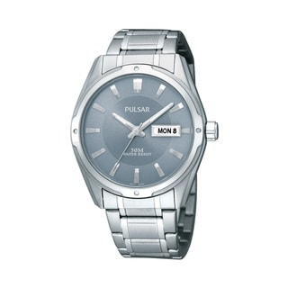 Pulsar Men's Dress Silver-Tone Grey Dial Watch