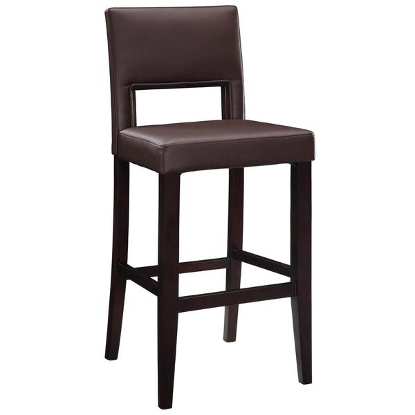 Oh Home Zeta Stationary Counter Stool Dark Brown Pvc