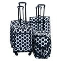 Jourdan Black/White Polka Dot 4-piece Spinner Luggage Set