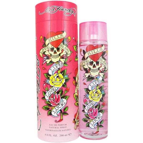 Ed Hardy Hearts Daggers 3 4 Oz Perfume For Women New In Box: Ed Hardy Women's 6.8-ounce Eau De Parfum Spray