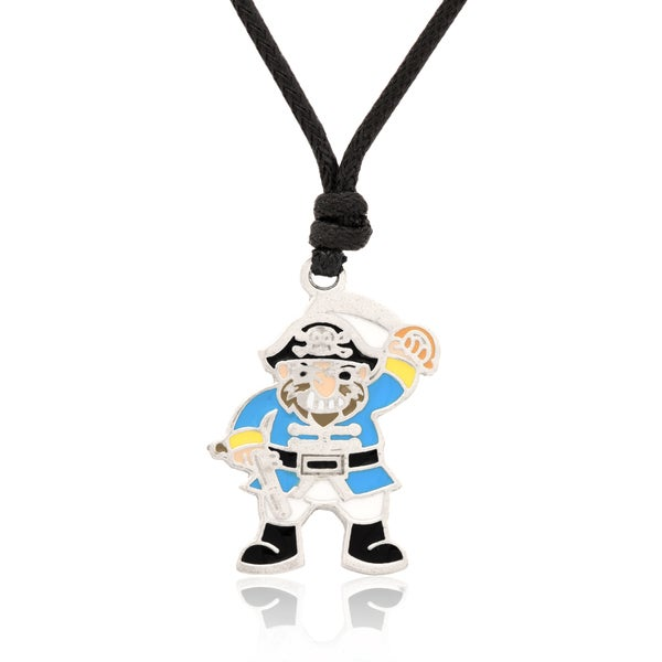 Molly and Emma Blue Enamel Pirate Necklace