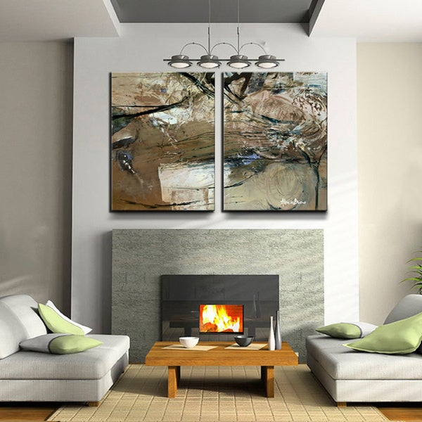 Ready2HangArt 39 Smash XVIII 39 Oversized Canvas 2 Piece Wall Art Set