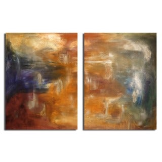 Alexis Bueno 'Smash XVII' Oversized Canvas 2-piece Wall Art Set