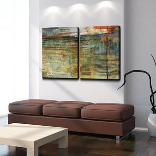Alexis Bueno 'Smash XVI' Oversized Canvas 2-piece Wall Art Set