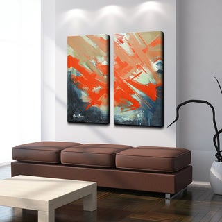 Alexis Bueno 'Smash XIV' Oversized Canvas Wall Art (2-piece)