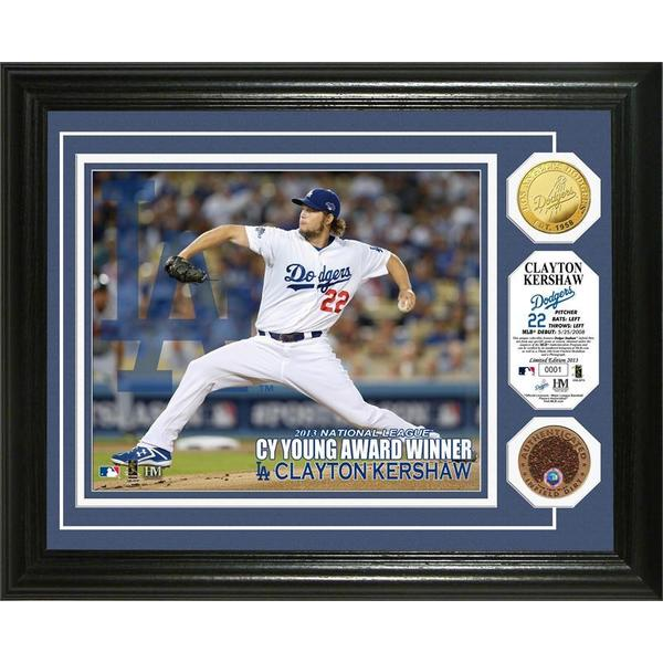 Clayton Kershaw 2013 NL Cy Young Dirt Coin Photo Mint