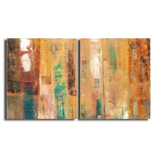 Alexis Bueno 'Smash XII' Oversized Canvas 2-piece Wall Art